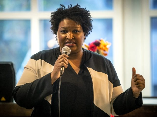 Politician and author Stacey Abrams speaks to an audience about voter supresssion on Tuesday, Nov. 19, 2019, in Atlanta. Abrams spoke during a roundtable summit as one in a series of events leading up athe Democratic debate to be held in Atlanta. Abrams' failed bid for Georgia's governor's seat was …