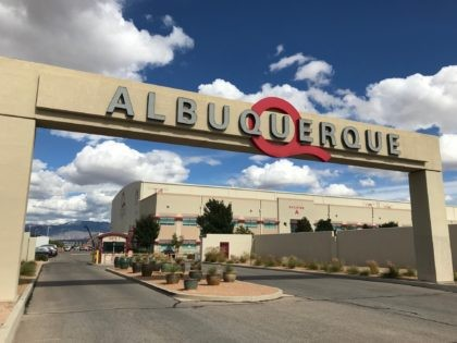 In this Oct. 8, 2018, file photo, is the entrance to ABQ Studios in Albuquerque, N.M., where Netflix announced at the studio complex that it chose Albuquerque as a new production hub. Netflix is pledging an additional $1 billion investment in its production hub in New Mexico. The company joined …