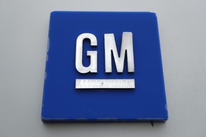 This Jan. 27, 2020, file photo shows a General Motors logo at the General Motors Detroit-Hamtramck Assembly plant in Hamtramck, Mich. General Motors has effectively canceled a $2 billion agreement with truck maker Nikola, scuttling plans for the startup's electric and hydrogen-powered Badger project. (AP Photo/Paul Sancya, File)