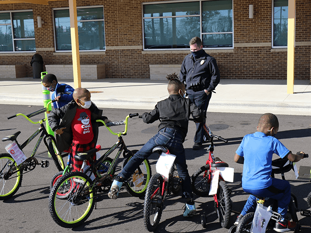 TPD Officer K.D. Nation purchased bicycles to give as Christmas gifts to kids this year. This morning, Officer Nation and Deputy Chief Sanders showed up to Pajama Day at Martin Luther King Jr. Elementary, where they surprised 16 kids with new bikes! We're proud to have officers like Officer Nation …