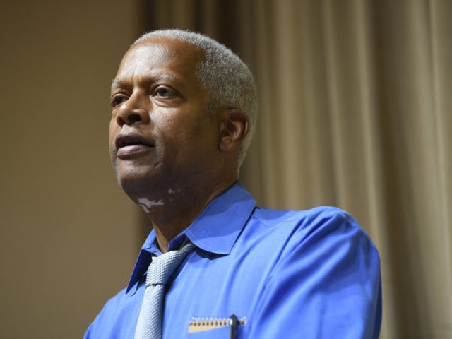 U.S. Rep. Hank Johnson, D-Ga., speaks to constituents during a town hall meeting Tuesday, August 13, 2019, at a senior center in Lithonia, Ga. (AP Photo/John Amis)