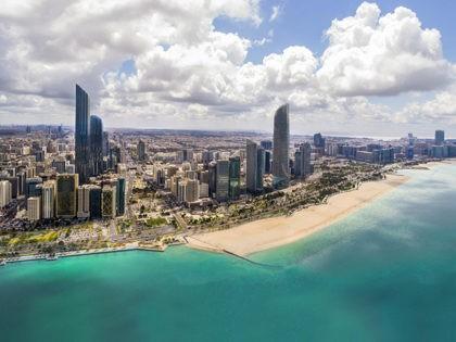 Aerial View of Abu Dhabi City