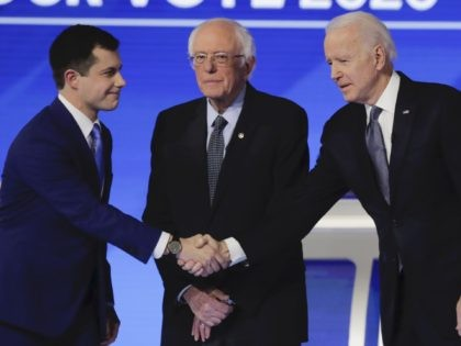 Buttigieg Sanders Biden (Charles Krupa / Associated Press)