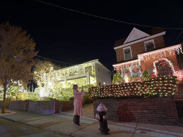 NEW YORK, NEW YORK - DECEMBER 06: Houses are decorated with Christmas lights and ornaments in the Dyker Heights section of Brooklyn on December 06, 2020 in New York City. The Dyker Heights Christmas-decorated residences are an annual attraction but have been scaled back this year due to Covid-19. (Photo …