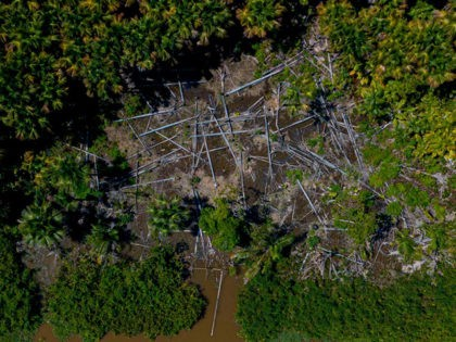 Aerial view of a deforested area in the municipality of Melgaco, Para State, Brazil, on July 30, 2020. (Photo by Tarso SARRAF / AFP) (Photo by TARSO SARRAF/AFP via Getty Images)