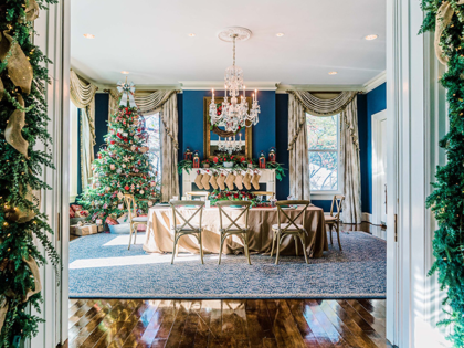 "The cherished memories and treasured traditions of the Holiday Season are on full display at the @VP Residence for an ""Old Fashioned Christmas.""Sled"