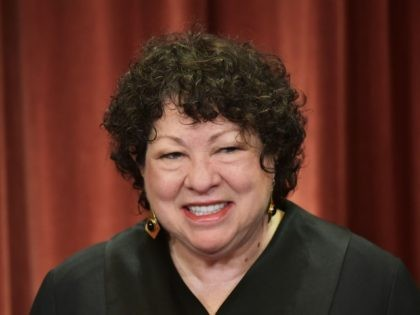 Associate Justice Sonia Sotomayor poses in the official group photo at the US Supreme Court in Washington, DC on November 30, 2018. (Photo by MANDEL NGAN / AFP) (Photo credit should read MANDEL NGAN/AFP via Getty Images)