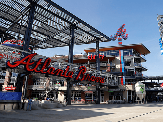 A general view of The Battery Atlanta connected to Truist Park, home of the Atlanta Braves, on March 26, 2020 in Atlanta, Georgia. Major League Baseball has postponed the start of its season indefinitely due to the coronavirus (COVID-19) outbreak. (Photo by Kevin C. Cox/Getty Images)