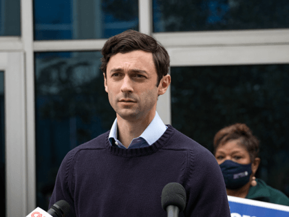 Jon Ossoff, Democratic candidate for a U.S. Senate seat in Georgia, holds a press conference to discuss Sen. David Perdue's (R-GA) stock trading practices at the IBEW local union headquarters on November 30, 2020 in Atlanta, Georgia. Ossoff and Democratic candidate for U.S. Senate Raphael Warnock are locked in a …