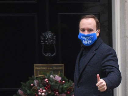 LONDON, ENGLAND - DECEMBER 02: Secretary of State for Health and Social Care, Matt Hancock arrives at number 10, Downing Street on December 2, 2020 in London, England. (Photo by Peter Summers/Getty Images)