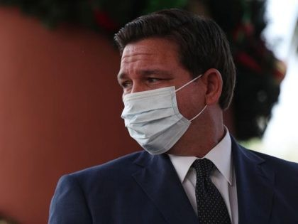 POMPANO BEACH, FLORIDA - DECEMBER 16: Florida Gov. Ron DeSantis attends a press conference where he spoke about the Pfizer-BioNtech COVID-19 vaccine at the John Knox Village Continuing Care Retirement Community on December 16, 2020 in Pompano Beach, Florida. The facility, one of the first in the country to do …