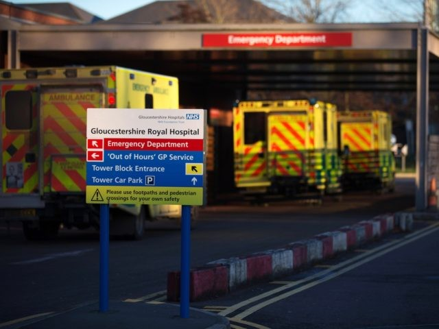 GLOUCESTER, UNITED KINGDOM - JANUARY 06: Ambulances arrive outside the Accident and Emergency department of Gloucestershire Royal Hospital on January 6, 2015 in Gloucester, England. The hospital is one of a number in the UK to have declared a major incident due to high demand in itÕs A&E departments whilst …
