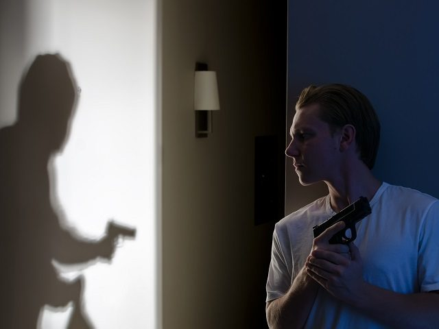 Armed resident ready to protect themselves against robber