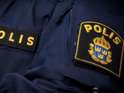 Police - stock photo Police in sweden uniform