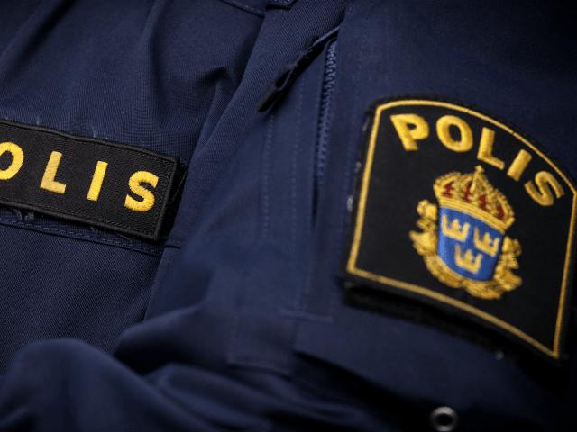 Police - stock photo Police in sweden uniform