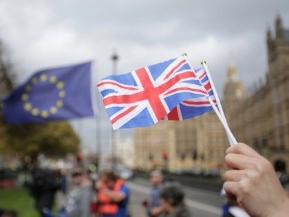 Britain formally launched the process for leaving the European Union on March 29, a historic move that has split the country and thrown into question the future of the European project. / AFP PHOTO / Daniel LEAL-OLIVAS (Photo credit should read DANIEL LEAL-OLIVAS/AFP via Getty Images)