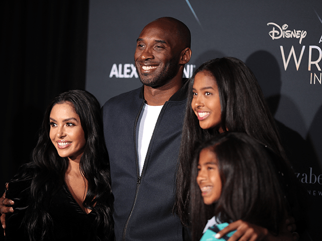 "Kobe Bryant (2nd L) and his family attend the premiere of Disney's ""A Wrinkle In Time"" at the El Capitan Theatre on February 26, 2018 in Los Angeles, California. (Photo by Christopher Polk/Getty Images)"