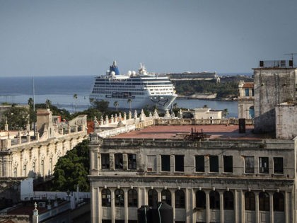 The first US-to-Cuba cruise ship to arrive in the island nation in decades glides into the port of Havana, on May 2, 2016. The first US cruise ship bound for Cuba in half a century, the Adonia -- a vessel from the Carnival cruise's Fathom line -- set sail from …