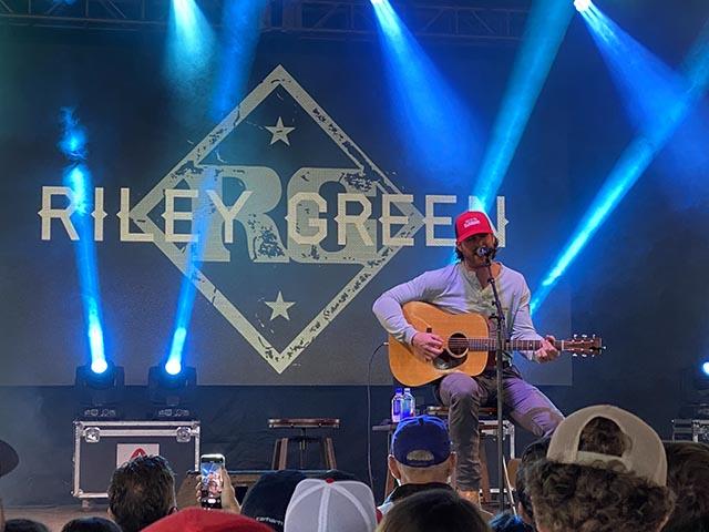 Riley Green in Gainesville, Georgia, December 31, 2020