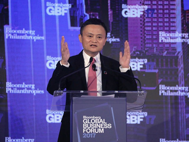 NEW YORK, NY - SEPTEMBER 20: Jack Ma, executive chairman of Alibaba Group, speaks at the Bloomberg Global Business Forum on September 20, 2017 in New York City. Heads of state and international business leaders met to discuss global issues and challenges to economic growth. The inaugural year of the …
