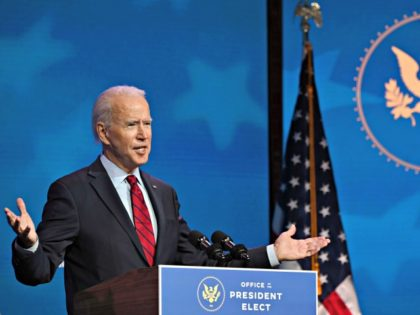 US President-elect Joe Biden speaks before announcing his team tasked with dealing with the Covid-19 pandemic at The Queen in Wilmington, Delaware on December 8, 2020. - President-elect Joe Biden on December 7, 2020 named the team tasked with turning around the United States' floundering efforts to quell the Covid-19 …