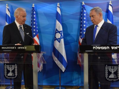 Joe Biden and Benjamin Netanyahu (Debbie Hill / AFP / Getty)