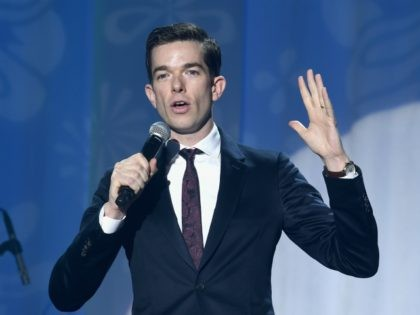NEW YORK, NY - NOVEMBER 10: John Mulaney performs on stage at A Funny Thing Happened On The Way To Cure Parkinson's benefitting The Michael J. Fox Foundation at the Hilton New York on November 10, 2018. (Photo by Jamie McCarthy/Getty Images)