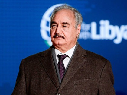 Self-proclaimed Libyan National Army (LNA) Chief of Staff, Khalifa Haftar arrives for a conference on Libya on November 12, 2018 at Villa Igiea in Palermo. - Libya's key political players meet with global leaders in Palermo on November 12 in the latest bid by major powers to kickstart a long-stalled …