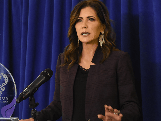 South Dakota Gov. Kristi Noem was given the Moms of America's Mothers of Influence award on Sunday in Washington, D.C. (Penny Starr/Breitbart News)