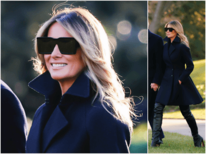 First Lady Melania Trump departed the White House for Palm …