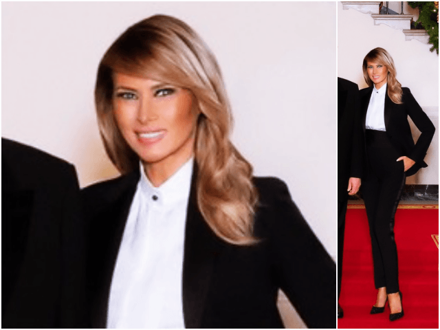First Lady Melania Trump posed for the official White House …