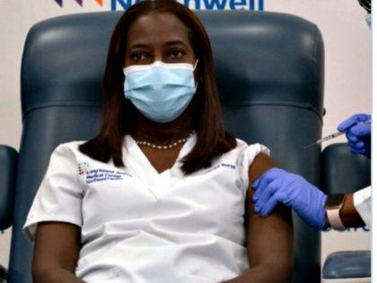 Nurse Sandra Lindsey Receives First Coronavirus Vaccination