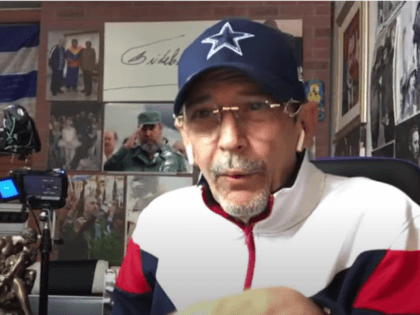 Communist sympathizer Edmundo Garcia threatens Cuban Democratic Directorate leader Oralndo Gutierrez-Boronat, December 9, 2020.