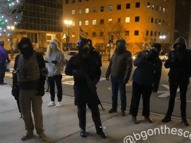 We support Karl Marx not Joe Biden, say armed Michigan protesters. (Video Screenshot: Twitter/Brendan Gutenschwager)
