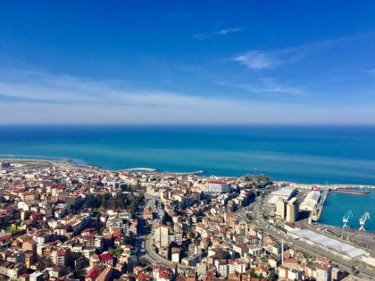 Panoramic view Trabzon city in Black Sea region,Turkey