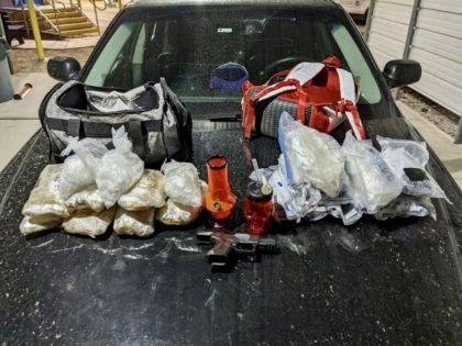 Yuma Sector Border Patrol agents seized 25 pounds of methamphetamine at the Highway 78 immigration checkpoint. (Photo: U.S. Border Patrol/Yuma Sector)