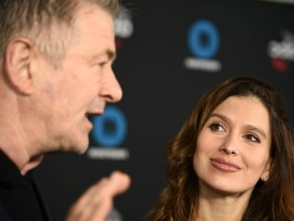 NEW YORK, NY - MAY 15: Hilaria Baldwin and Alec Baldwin attend during 2018 Disney, ABC, Freeform Upfront at Tavern On The Green on May 15, 2018 in New York City. (Photo by Dimitrios Kambouris/Getty Images)