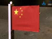 Chinese Unfurl Communist Flag on the Moon