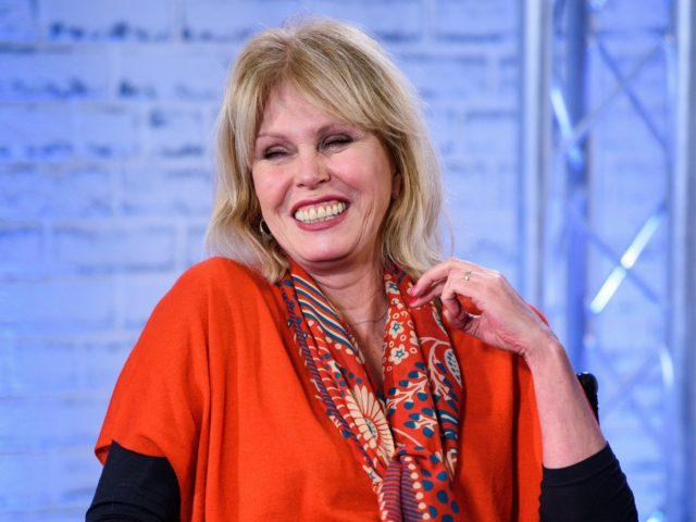 LONDON, ENGLAND - FEBRUARY 07: Joanna Lumley during a BUILD panel discussion on February 7, 2018 in London, England. (Photo by Joe Maher/Getty Images)