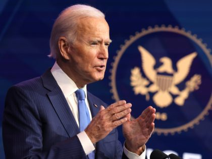 WILMINGTON, DELAWARE - DECEMBER 11: U.S. President-elect Joe Biden speaks during an event to announce new cabinet nominations at the Queen Theatre on December 11, 2020 in Wilmington, Delaware. President-elect Joe Biden is continuing to round out his domestic team with the announcement of his choices for cabinet secretaries of …