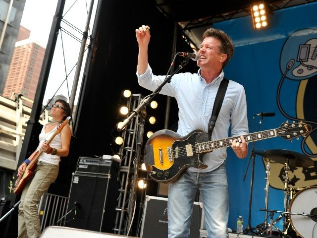 NEW YORK, NY - JULY 07: Musician Laura Ballance and singer/musician Mac McCaughan of Superchunk perform at The 2012 CBGB Music Fetival on July 7, 2012 in New York City. (Photo by Stephen Lovekin/Getty Images for CBGB Festival)
