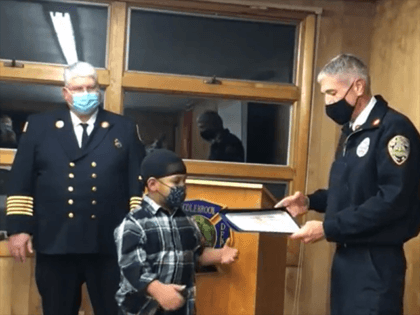 New Hampshire Fire Marshals award Denali Duval for alerting family of home fire