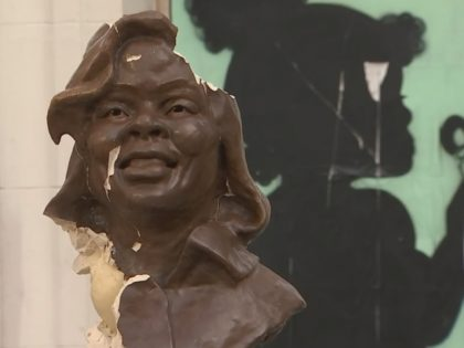 A sculpture of Breonna Taylor in Oakland, California, was vandalized Saturday, just two weeks after it was first installed.