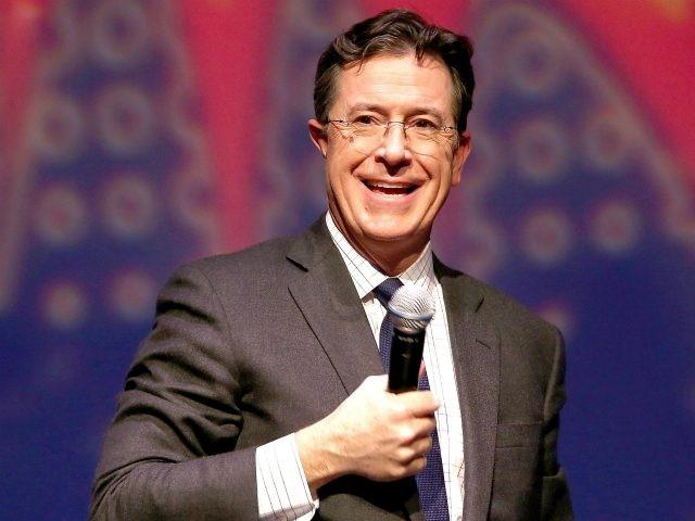 NEWARK, NJ - NOVEMBER 21: Stephan Colbert speaks at the Montclair Film Festival Presents Celebrity Nerd-Off: Stephen Colbert & J.J. Abrams on November 21, 2015 in Newark, New Jersey. (Photo by Paul Zimmerman/Getty Images for Montclair Film Festival)