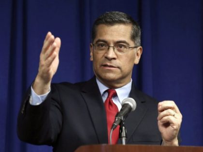 In this March 5, 2019, file photo, California Attorney General Xavier Becerra speaks during a news conference in Sacramento, Calif. Becerra is nominated for Health and Human Services Secretary. (AP Photo/Rich Pedroncelli, File)