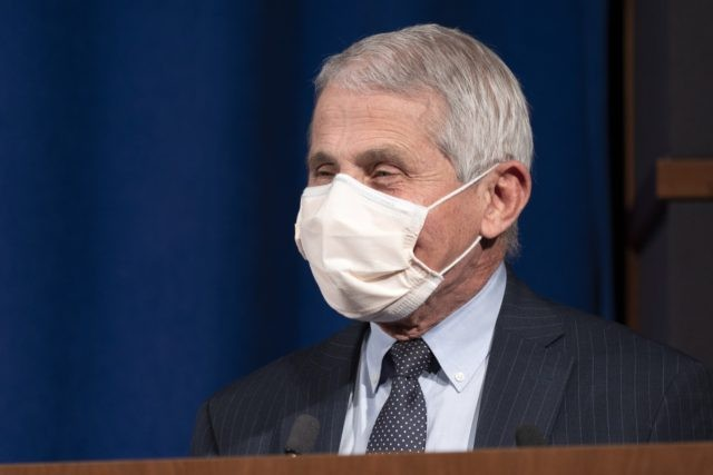 Dr. Anthony Fauci, Director of the National Institute of Allergy and Infectious Diseases at the National Institutes of Health (NIH), speaks during a ceremony awarding the Nobel Prize medal and prize to Harvey J. Alter, Laureate in Physiology or Medicine, at NIH in Bethesda, Md., Tuesday, Dec. 8, 2020. (AP …