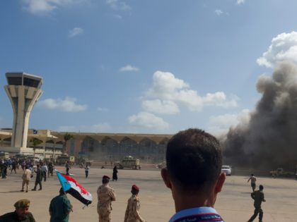 Smoke billows at the Aden Airport on December 30, 2020, after explosions rocked the Yemeni airport shortly after the arrival of a plane carrying members of a new unity government. - Explosions rocked Yemen's Aden airport on Wednesday shortly after the arrival of a plane carrying members of a new …