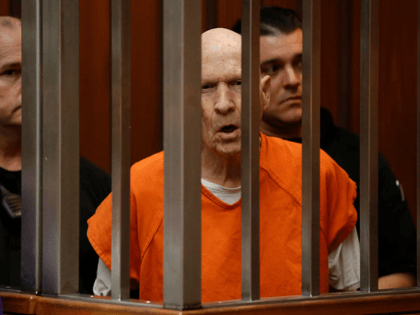 In this March 12, 2020, file photo, Joseph James DeAngelo, charged with being the Golden State Killer, appears in court in Sacramento, Calif. The 74-year-old former police officer is tentatively set to plead guilty Monday, June 29, 2020, to being the elusive Golden State Killer. The hearing comes 40 years …