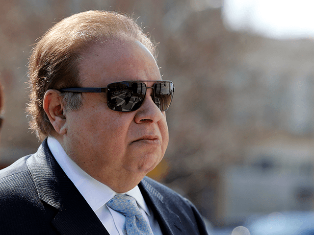In this April 2, 2015, file photo, Dr. Salomon Melgen arrives at the Martin Luther King Jr. Federal Courthouse for his arraignment, in Newark, N.J. Sen. Bob Menendez's legal defense fund had paid for about $850,000 in legal expenses through March 31, the day before he was indicted on 14 …