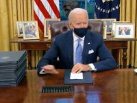 Wearing a Mask, Joe Biden Signs Executive Order Mandating Masks on Federal Property